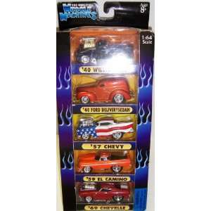 2002 Muscle Machines Too Hot 5 car Set 164 Scale Toys