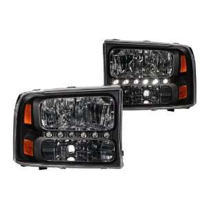 Anzo USA 111106 Ford Black Amber Headlight Assembly   (Sold in Pairs)