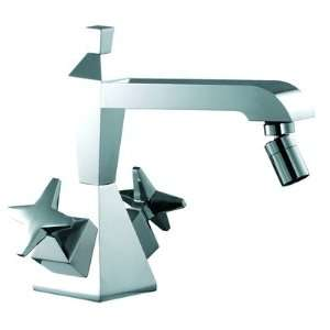 Mp1 Double Cross Handle Horizontal Spray Bidet Faucet with Single Hole