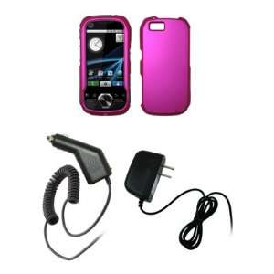 Motorola i1   Hot Pink Rubberized Snap On Cover Hard Case