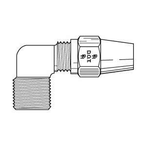Parker Hannifin 3/4tube X 3/4 Nptf Male Elbow W/sealant