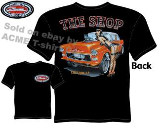 1955 Chevy 55 Gasser Pinup Hot Rod T Shirt, Size MD