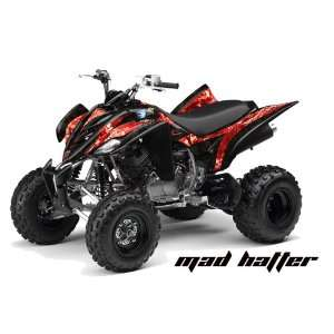 AMR Racing Yamaha Raptor 350 ATV Quad Graphic Kit   Madhatter Black