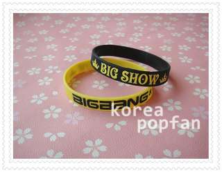 BIGBANG big bang KPOP Support wrist band BRACELET X2 Yellow & Black