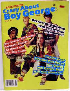 CRAZY ABOUT BOY GEORGE 1984 Magazine Rock Heroes RARE