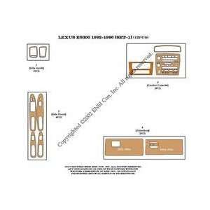 Lexus ES300 (set 1) Dash Trim Kit 94 96   12 pieces   Zebrano wood (10