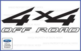 2011 Ford F150 FX4 Off Road Decals Stickers Black   Style FB Truck Bed