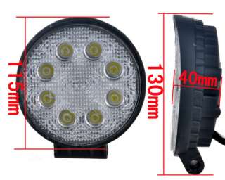 24W/27W LED Offroad Driving Work Light Jeep Truck Lamp 12 24V IP67 4WD