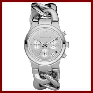 NEW Michael Kors Womens Watch MK3149 Silver tone Chrono