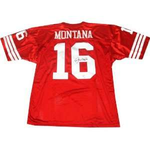 Joe Montana Autographed Red Pro Style Jersey Sports
