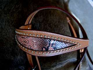 SET BRIDLE BREAST COLLAR WESTERN LEATHER HEADSTALL TACK RODEO HORSE