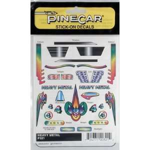 Pinecar   Heavy Metal Stick On Decal (Pinewood Derby) Toys & Games