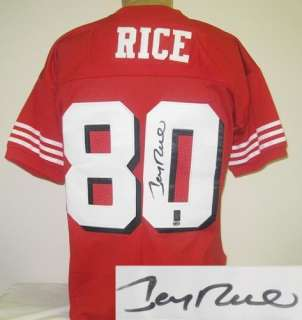 Jerry Rice Signed/Autographed San Francisco 49ers 1994 Throwback