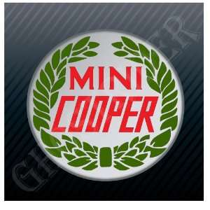 Mini Cooper Wreath Vintage Logo Sticker Decal
