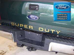 Ford F350 Super Duty Tailgate Letter Insert Decals
