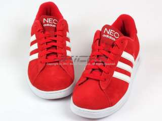 Adidas Neo Derby University Red/White/White Casual Low Suede 2012