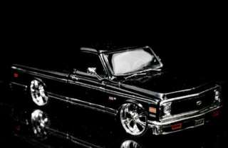 1972 Chevy Cheyenne Pickup DUB CITY Diecast 124 Scale   Black