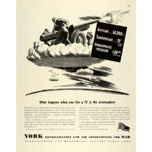 1944 Ad York Refrigeration & Air Conditioning PA Army Air
