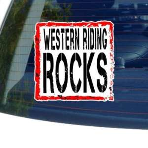 Western Riding Rocks   Horse   Window Bumper Sticker