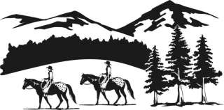 Horse Appaloosa Rider Equestrian Trailer Decal 24