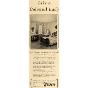 Ad Colonial American Walnut Furniture Age Grace   Original Print Ad