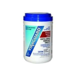 Box Of 65 Viraguard Extra Large Heavy Duty Disinfectant Wipes.   Case