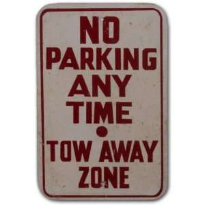 Orange Bowl Stadium No Parking Anytime White Sign