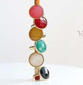 Fashion Alloy colorful stone Adjustable Ring