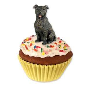 Bull Terrier PupCake Dog Trinket Box   Brindle