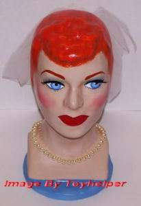 LOVE LUCY HEAD STATUE LUCILLE BALL BUST SIGNED ART