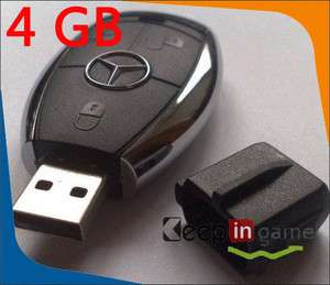Cool 4GB Car Key USB 2.0 Flash Memory Stick Drive Pen Mercedes Benz