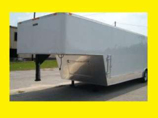 5x28 5200# TANDEM GOOSENECK BIG BUCK TRAILER ENCLOSED CARGO CAR HAULER