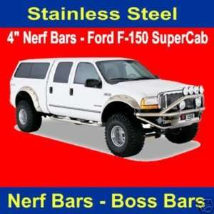 Putco 45128 Boss Bar Stainless Steel Side Steps   Ford F