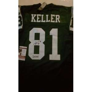 Dustin Keller Signed New York Jets Authentic Jersey DKNY