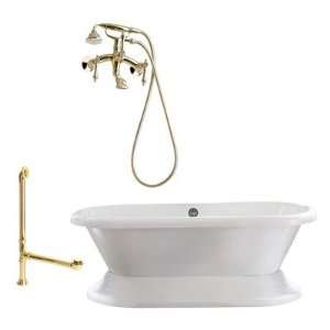 Tub with Wall Mount Faucet Faucet Finish Millennium Brass, Tub Color