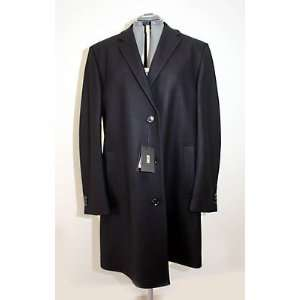 Hugo Boss The Station mens Classic Black Urban Coat Virgin Wool Blend