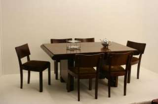 Superb Art Deco 1930s Rosewood Table & 6 Chairs