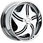 22 DUB SPIN Revolution Wheel SET 22x9.5 Chrome Spinner Rims For RWD 5