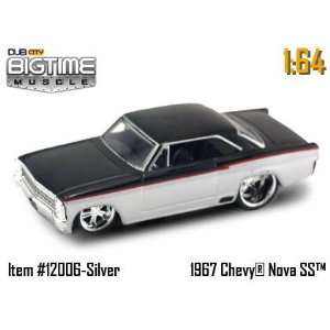 Jada Dub City Big Time Muscle Black and Silver 67 Chevy