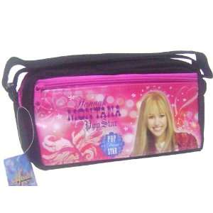 POP STAR Hannah Montana pencil Case Black
