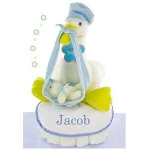 Stork Nest One Tier Diaper Cake Boy Baby