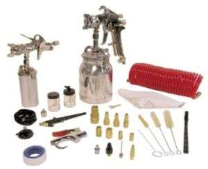 Canada Tools 8195 43 PIECES HEAVY DUTY SPRAY GUN KIT siphon painting