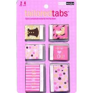 Scrapworks Tailored Fabric Tabs Baby Girl