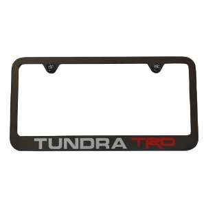 Toyota Tundra TRD License Plate Frame Black USA Made High