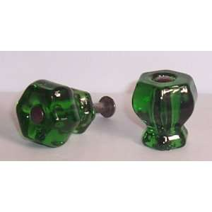 type Crystal Glass Cabinet Knobs NOW with FLUSH FIT CONNECTORS, a 3rd