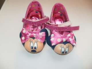 VERY CUTE DISNEY MINNIE MOUSE GIRLS SHOES TODDLERS SIZE 4 VGC