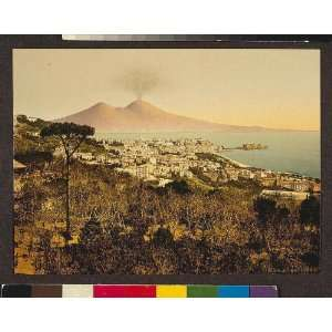 Vintage Travel Poster   Milan (i.e. Naples) and Mount Vesuvius I Italy
