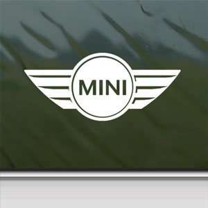 Mini Cooper White Sticker Car Laptop Vinyl Window White Decal