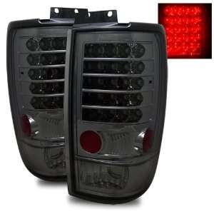 97 02 Ford Expedition Smoke LED Tail Lights Automotive