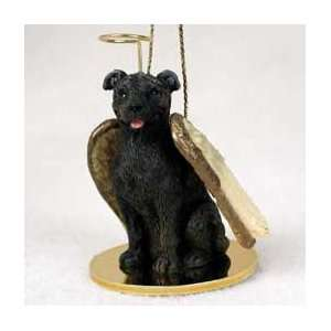 Bull Terrier Angel Dog Ornament   Brindle
